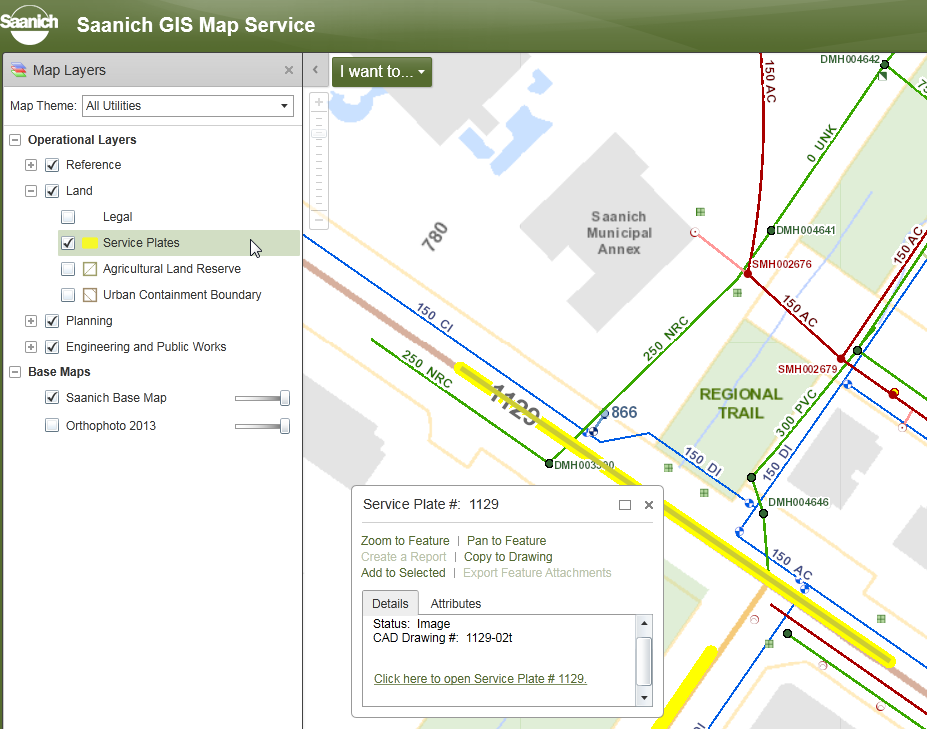 GIS Map - Service plate
