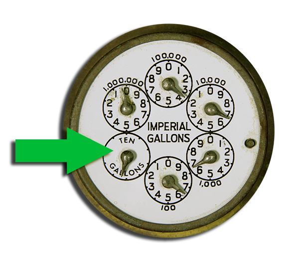 photo of older type water meter