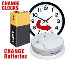 smoke alarm change clocks and batteries