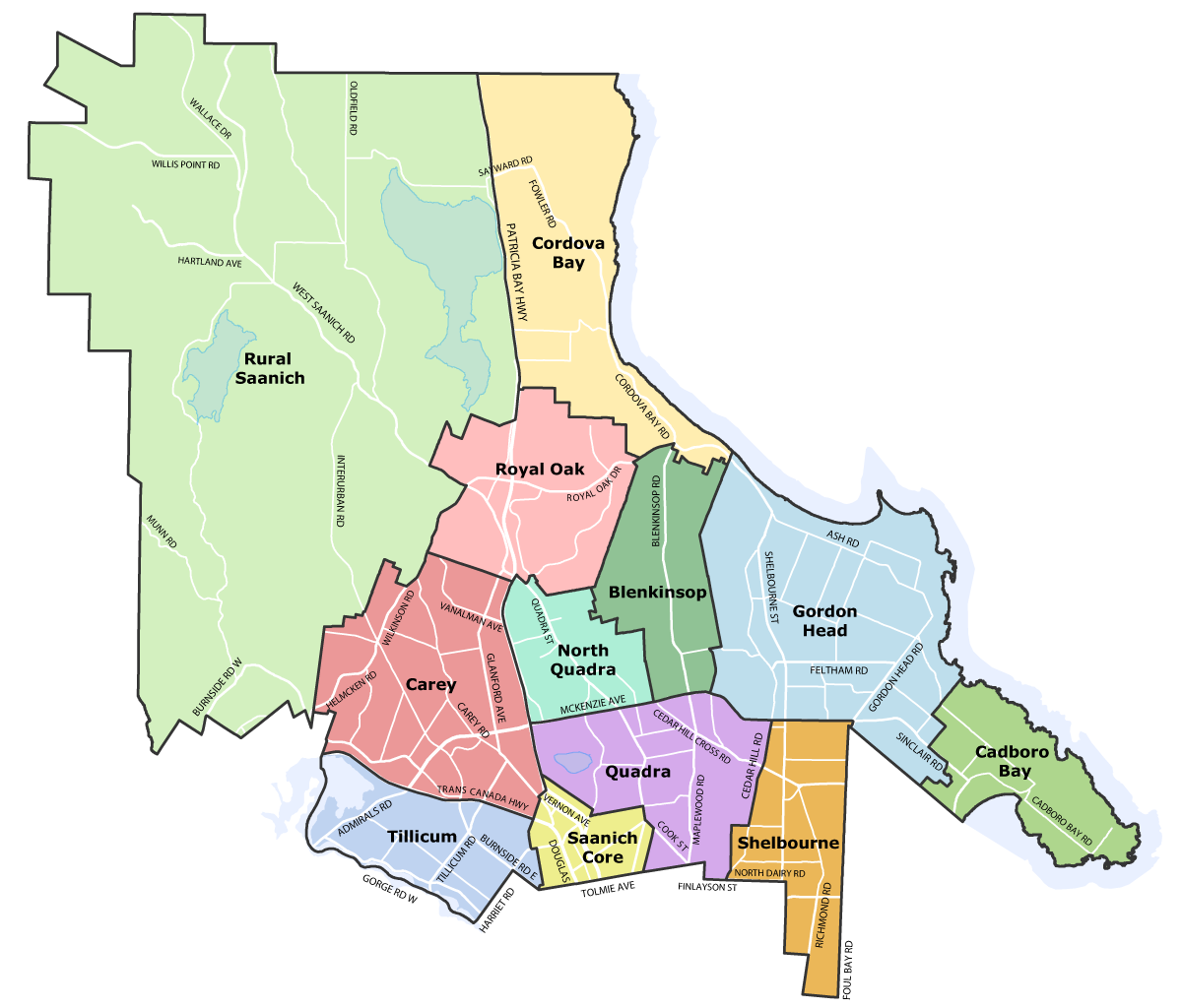 Saanich Zoning Map Local Area Plans | District of Saanich