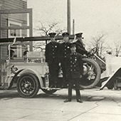 photo of Saanich's first fire truck