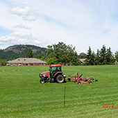 Tractor Cutting Sports Field