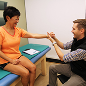 photo of client with physiotherapist