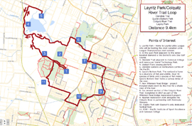 Layritz Park and Colquitz River Trail 9.4km trail map