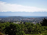 View of Victoria and Olympic Mountains from Mount Tolmie